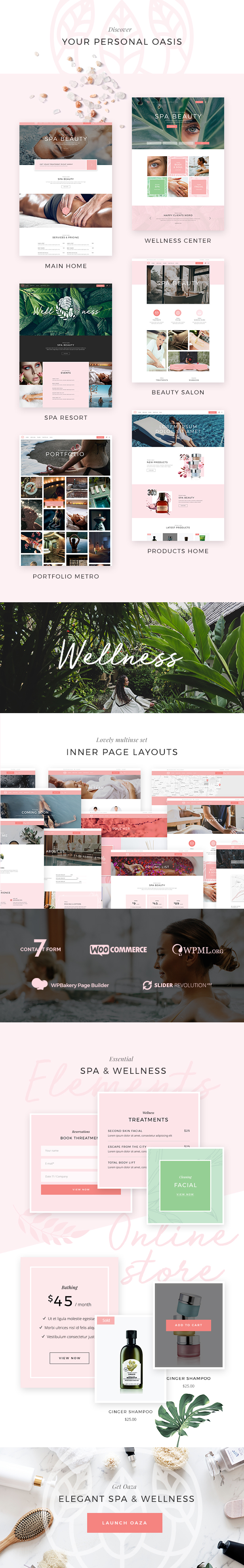 Oaza - Elegant Spa and Wellness Theme - 1